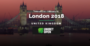 Unibet's 2018 Open Tour Arrives in London on February 22nd